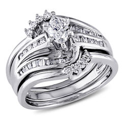 3/4 CT. T.W. White Diamond 14K Gold Bridal Set