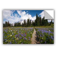 Brushstone Wild Flowers Path To Mt Rainier Removable Wall Decal
