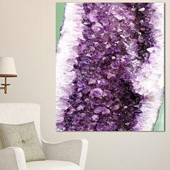 Designart Purple Precious Stones Abstract Canvas Art Print