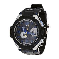 Everlast® Mens Black Silicone Strap Sport Watch