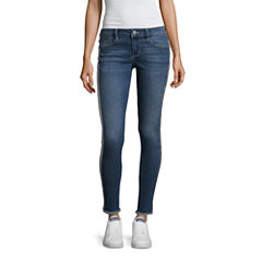 Arizona Shine Side Stripe Jeans-Juniors
