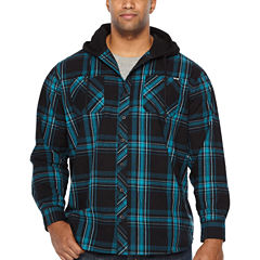 Zoo York Long Sleeve Plaid Button-Front Shirt-Big and Tall