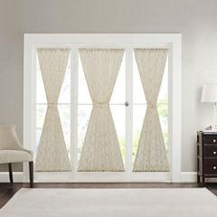 Iris Diamond Sheer Rod-Pocket Door Panel