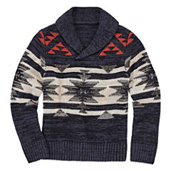 Arizona Mock Neck Long Sleeve Pullover Sweater - Big Kid