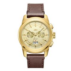 JBW 0.12 Ctw Mens Brown Strap Watch-J6352b