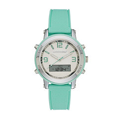 Skechers® Womens Green Silicone Strap Analog/Digital Chronograph Watch