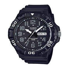 Casio Table Mens Black Strap Watch-Mrw210h-1apb