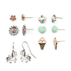 Carole 6 Pair Multi Color Earring Sets