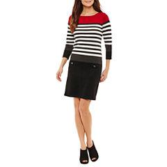 Alyx Long Sleeve Sweater Dress-Petites