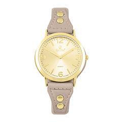 Decree Womens Brown Strap Watch-Pt1831gdtn