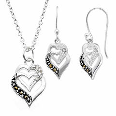 Sparkle Allure Le Vieux 2-pc. Silver Over Brass Jewelry Set