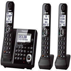 Panasonic KX-TGF343B Expandable Digital Cordless Answering System with 3 Handsets - Black