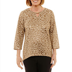 Alfred Dunner Jungle Habitat Space Dye Top