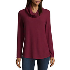 Alyx Long Sleeve Cowl Neck Knit Blouse