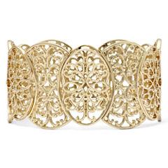 Gold-Tone Filigree Stretch Bracelet