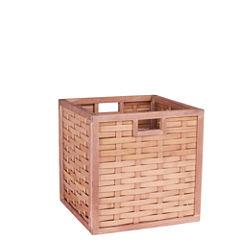 Household Essentials Poplar Wicker Storage Bin
