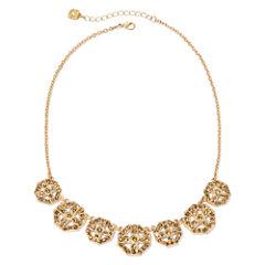 Monet® Gold Brown Collar Necklace 1