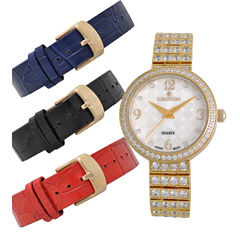 Croton Womens Gold Tone 4-pc. Watch Boxed Set-Cn207555ylmp