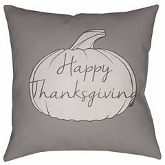 Decor 140 Thankful Holiday Square Throw Pillow