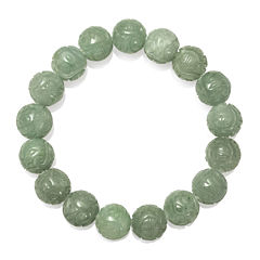 Green Jade Stretch Bracelet