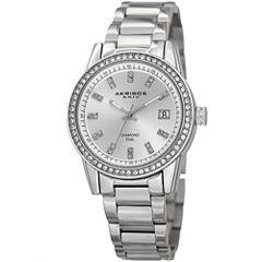 Akribos XXIV Womens Silver Tone Bracelet Watch-A-928ss