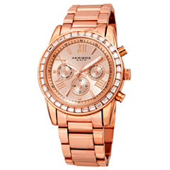 Akribos XXIV Womens Rose Goldtone Bracelet Watch-A-943rg