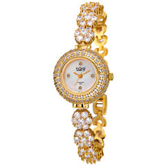 Burgi Womens Gold Tone Bracelet Watch-B-139yg