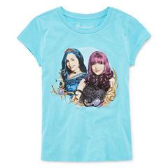 Short Sleeve Crew Neck Descendants T-Shirt-Big Kid Girls