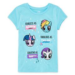 Short Sleeve Crew Neck My Little Pony T-Shirt-Big Kid Girls