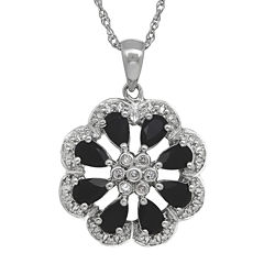 Onyx and Diamond-Accent Sterling Silver Pendant