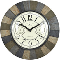 FirsTime® Slate Garden Wall Clock
