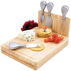 Picnic Time® Asiago Folding Cheeseboard with Tools