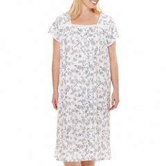Earth Angels® Short-Sleeve Long Nightgown - Plus
