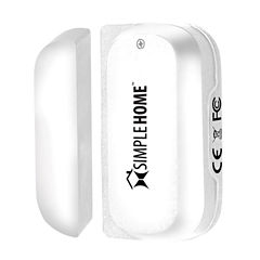 Simple Home XHS7-1003-WHT WiFi Smart Door and Window Sensor White
