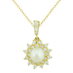 Petite Lux™ Cultured Freshwater Pearl Starburst Pendant Necklace