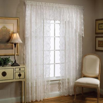 petite fleur rodpocket window treatments - 63 Inch Curtains