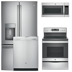 GE® 4-pc. Electric Kitchen Package