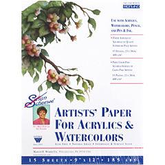 Watercolor Paper Pad with 15 Sheets