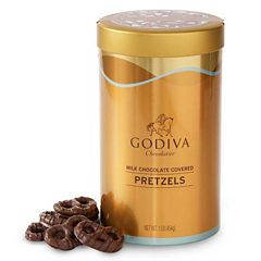 Godiva Milk Chocolate-Covered Pretzels Tin