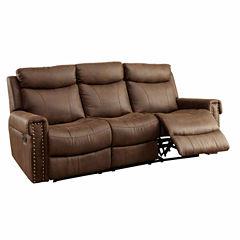 Aleppo Transitional Fabric Pad-Arm Sofa