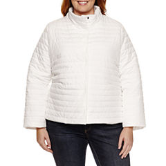 Liz Claiborne Puffer Swing Coat-Plus Jacket