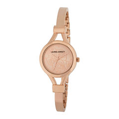 Laura Ashley Womens Rose Goldtone Bangle Watch-La31019rg