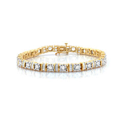 5 CT. T.W. White Diamond 10K Gold Tennis Bracelet