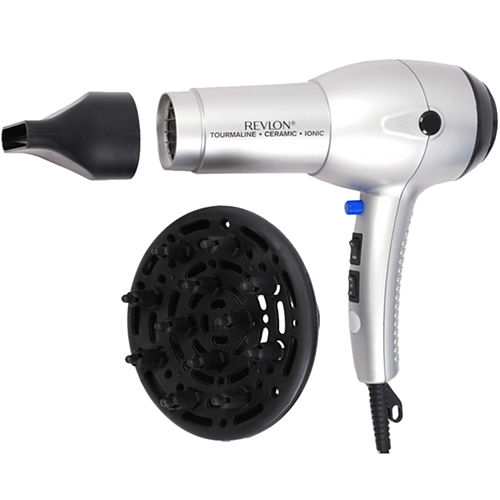 Revlon® 1875W Tourmaline Ionic Silver Hair Dryer