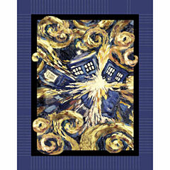 Doctor Who Expelled Tardis Fleece Throw
