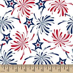 Patriotic Fireworks Cotton Fabric