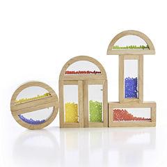 Guidecraft Rainbow Crystal Bead Building Blocks