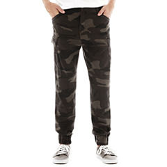 Plugg® Stretch Twill Cargo Jogger Pants