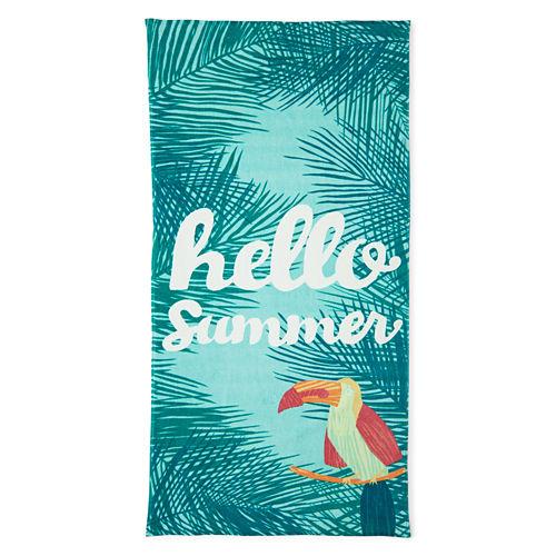 Outdoor Oasis Hello Summer 30x60 Printed Beach Towel