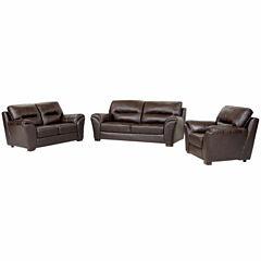 Eliana Leather Sofa + Loveseat Set